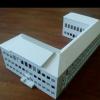 Макет главного здания МБОУ Гимназии №3 в Академгородке из ПВХ и создание пристройки